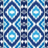 Modelo inconsútil azul étnico Imágenes de archivo libres de regalías