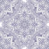 Modelo inconsútil azul de la mandala Fotografía de archivo libre de regalías
