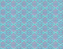 Modelo inconsútil bajo la forma de cordón de la turquesa en un backgro rosado Fotos de archivo
