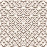 Modelo inconsútil beige, textura del cordón stock de ilustración