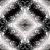 Modelo inconsútil blanco y negro barroco 3d Moder floral del vector stock de ilustración