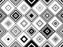 Modelo inconsútil blanco y negro tribal de la forma del diamante libre illustration