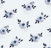 Modelo inconsútil blando con las anémonas de las flores Fotografía de archivo