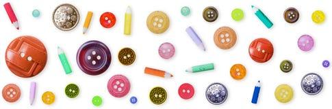 Modelo inconsútil - botones pasados de moda del color Foto de archivo libre de regalías