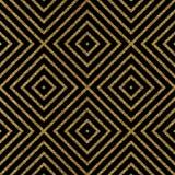 Modelo inconsútil brillante del oro geométrico Imagenes de archivo