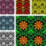 Modelo inconsútil brillante en seis varants del color Imagen de archivo