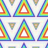 Modelo inconsútil brillante, geométrico de triángulos, arco iris del color ilustración del vector