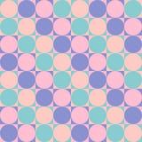 Modelo inconsútil - círculos en cuadrados stock de ilustración
