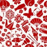 Modelo inconsútil chino de la cultura asiática del Año Nuevo