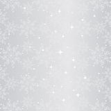 Modelo inconsútil chispeante del copo de nieve de la Navidad Fotos de archivo libres de regalías