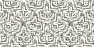 Modelo inconsútil circular del laberinto coloreado con los puntos, plano Fotografía de archivo libre de regalías