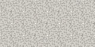 Modelo inconsútil circular del laberinto coloreado con los puntos, plano Imágenes de archivo libres de regalías