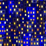 Modelo inconsútil Ciudad de la noche libre illustration