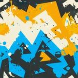 Modelo inconsútil coloreado del grunge ilustración del vector