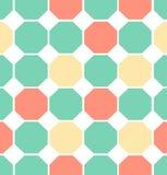 Modelo inconsútil coloreado ejemplo del polígono Fotografía de archivo