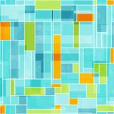 Modelo inconsútil coloreado extracto del mosaico Imagen de archivo libre de regalías