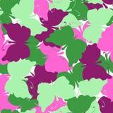 Modelo inconsútil coloreado mariposa del vector Imágenes de archivo libres de regalías
