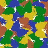 Modelo inconsútil coloreado mariposa del vector Fotos de archivo libres de regalías