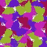 Modelo inconsútil coloreado mariposa del vector Imagenes de archivo