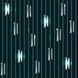 Modelo inconsútil coloreado vector de los bulbos de cristal Fotos de archivo