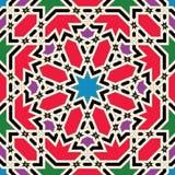 Modelo inconsútil colorido árabe de Marruecos Imagen de archivo libre de regalías