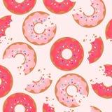 Modelo incons?til colorido con los anillos de espuma sabrosos Fondo decorativo con la comida libre illustration