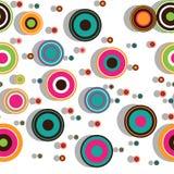 Modelo inconsútil colorido con los círculos concéntricos stock de ilustración
