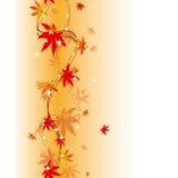 Modelo inconsútil colorido de las hojas de otoño stock de ilustración