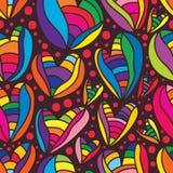 Modelo inconsútil colorido del amor ilustración del vector