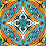 Modelo inconsútil colorido del estilo étnico floral Ornamental del vector ilustración del vector