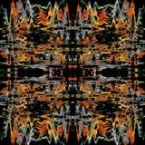 Modelo inconsútil colorido del Grunge Sucio abstracto pintado Contexto futurista moderno de la pared para el fondo ilustración del vector