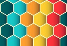 Modelo inconsútil colorido del polígono, fondo Fotografía de archivo libre de regalías