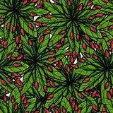 Modelo inconsútil colorido del vector con las plantas tropicales stock de ilustración
