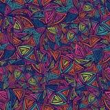 Modelo inconsútil colorido del vector con los triángulos abstractos Fotografía de archivo