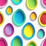 Modelo inconsútil colorido elegante con el huevo de Pascua stock de ilustración