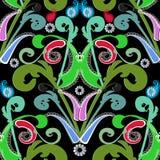 Modelo inconsútil colorido floral de Paisley Fotografía de archivo libre de regalías