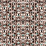 Modelo inconsútil con adorno de las flechas Mini corchetes menores/mayores repetidos Papel pintado de los galones Fondo abstracto Fotos de archivo