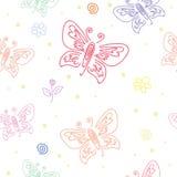 Modelo incons?til con adornos de diversas mariposas Modelo incons?til del ornamento de la mariposa para el dise?o del arte de la  fotografía de archivo