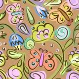 Modelo inconsútil con adornos florales Imagen de archivo
