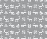 Modelo inconsútil con deers Puntada cruzada Vector foto de archivo libre de regalías