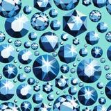 Modelo inconsútil con diversas joyas Fondo inconsútil de las piedras preciosas Diseño del diamante Ilustración del vector Imagenes de archivo