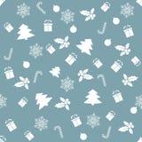 Modelo inconsútil con con diversos símbolos del invierno La Navidad libre illustration
