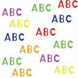 Modelo inconsútil con el ABC de las letras Imágenes de archivo libres de regalías