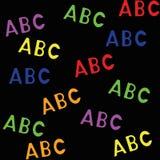 Modelo inconsútil con el ABC de las letras Fotos de archivo