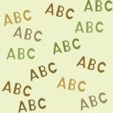 Modelo inconsútil con el ABC de las letras Imagenes de archivo