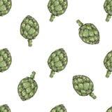 Modelo inconsútil con el bróculi vegetal Para la cocina, para imprimir en las materias textiles, caja del teléfono Diseño de la m ilustración del vector