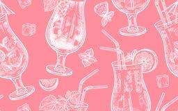 Modelo inconsútil con el consumo de vino Imagen de archivo libre de regalías