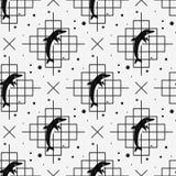 Modelo inconsútil con el delfín Ilustración del vector ilustración del vector