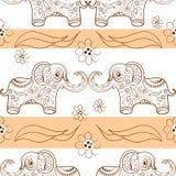 Modelo inconsútil con el elefante Fotografía de archivo libre de regalías