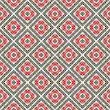 Modelo inconsútil con el ornamento abstracto geométrico étnico Adornos eslavos del bordado de la puntada cruzada ilustración del vector